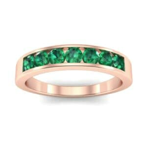 Channel-Set Seven-Stone Emerald Ring (0.65 Carat)