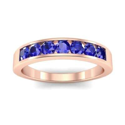 Channel-Set Seven-Stone Blue Sapphire Ring (0.65 Carat)