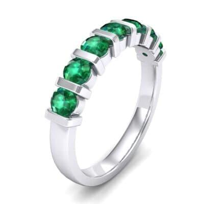 Bar-Set Seven-Stone Emerald Ring (1.12 Carat)