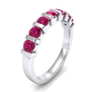 Bar-Set Seven-Stone Ruby Ring (1.12 Carat)
