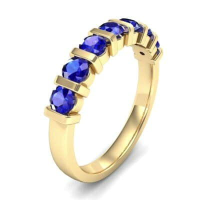 Bar-Set Seven-Stone Blue Sapphire Ring (1.12 Carat)