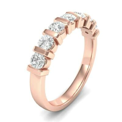 Bar-Set Seven-Stone Diamond Ring (0.7 Carat)