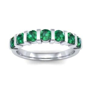 Bar-Set Seven-Stone Emerald Ring (1.12 Carat)