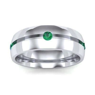Grooved Five-Stone Emerald Ring (0.33 Carat)