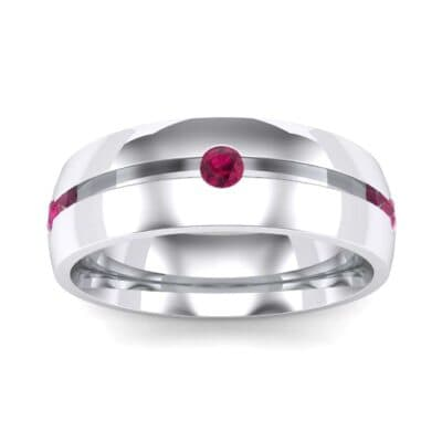 Grooved Five-Stone Ruby Ring (0.33 Carat)