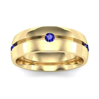 Grooved Five-Stone Blue Sapphire Ring (0.33 CTW) Top Dynamic View