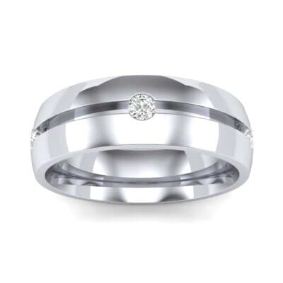 Grooved Five-Stone Diamond Ring (0.23 Carat)