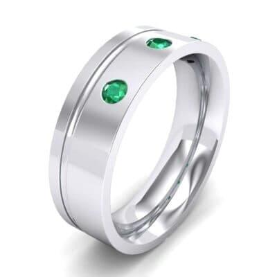 Round-Cut Trio Emerald Ring (0.2 Carat)