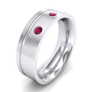 Round-Cut Trio Ruby Ring (0.2 Carat)