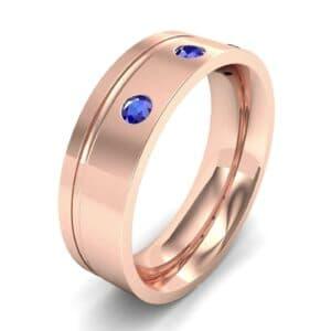 Round-Cut Trio Blue Sapphire Ring (0.2 Carat)
