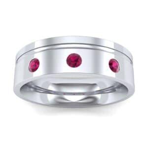 Round-Cut Trio Ruby Ring (0.2 Carat)
