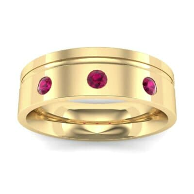 Round-Cut Trio Ruby Ring (0.2 CTW) Top Dynamic View