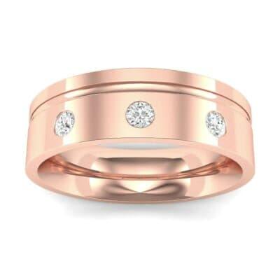 Round-Cut Trio Diamond Ring (0.14 CTW) Top Dynamic View