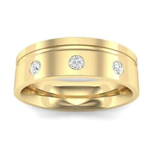 Round-Cut Trio Diamond Ring (0.14 Carat)