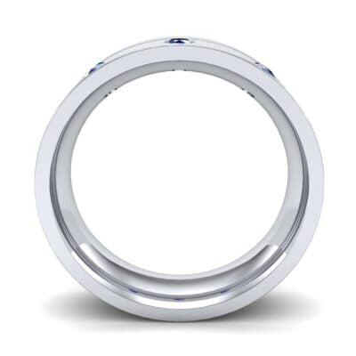 Round-Cut Trio Blue Sapphire Ring (0.2 CTW) Side View