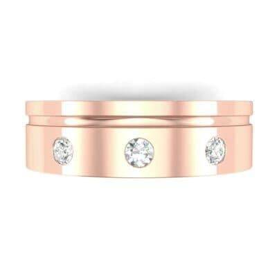 Round-Cut Trio Diamond Ring (0.14 CTW) Top Flat View