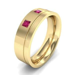 Princess-Cut Trio Ruby Ring (0.27 Carat)