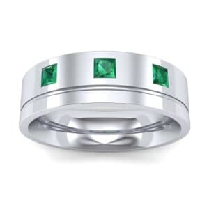 Princess-Cut Trio Emerald Ring (0.27 Carat)