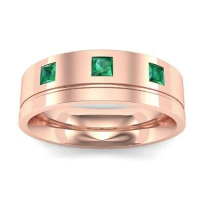 Princess-Cut Trio Emerald Ring (0.27 Carat)