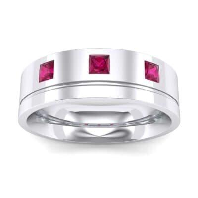Princess-Cut Trio Ruby Ring (0.27 Carat)