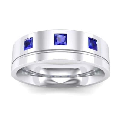 Princess-Cut Trio Blue Sapphire Ring (0.27 Carat)