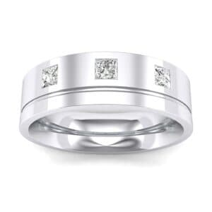 Princess-Cut Trio Diamond Ring (0.24 Carat)
