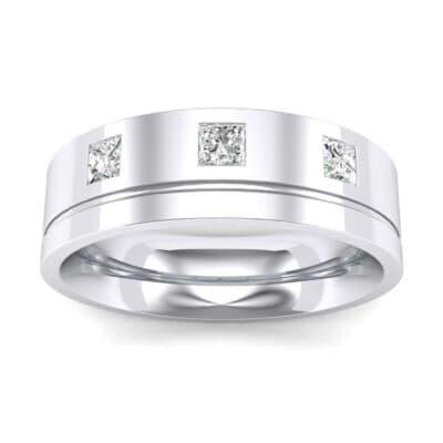 Princess-Cut Trio Diamond Ring (0.24 Carat)