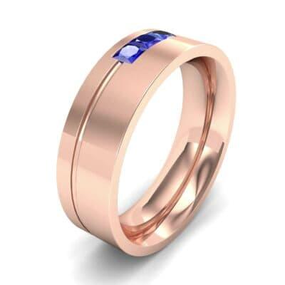 Channel-Set Trio Blue Sapphire Ring (0.27 Carat)