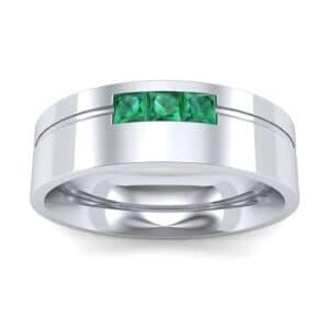 Channel-Set Trio Emerald Ring (0.27 Carat)