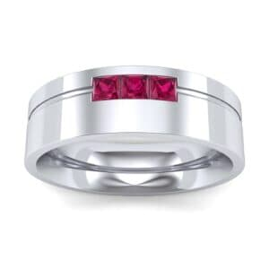 Channel-Set Trio Ruby Ring (0.27 Carat)