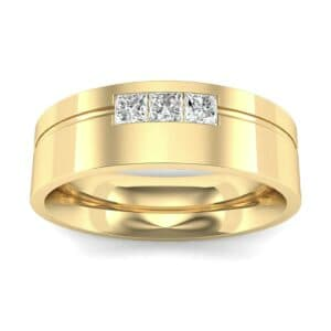 Channel-Set Trio Diamond Ring (0.24 Carat)