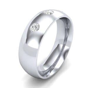 Rounded Three-Stone Diamond Ring (0.19 Carat)