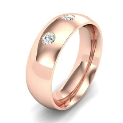 Rounded Three-Stone Diamond Ring (0.19 CTW) Perspective View