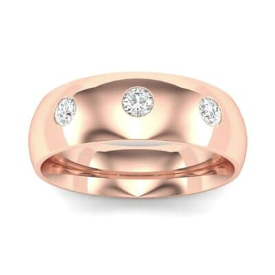 Rounded Three-Stone Diamond Ring (0.19 CTW) Top Dynamic View