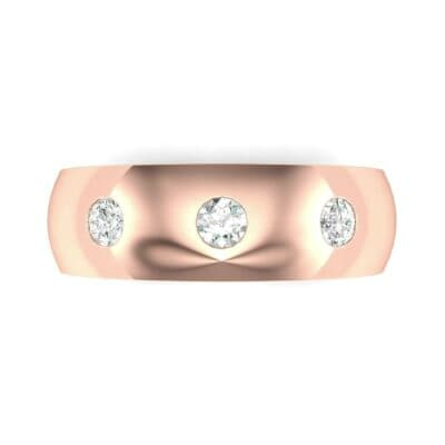 Rounded Three-Stone Diamond Ring (0.19 CTW) Top Flat View