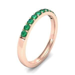 Thin Surface Prong Set Emerald Ring (0.46 Carat)