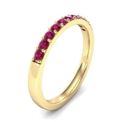 Thin Surface Prong Set Ruby Ring (0.46 Carat)