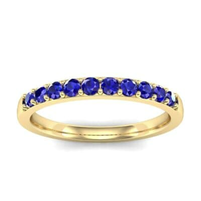 Thin Surface Prong Set Blue Sapphire Ring (0.46 Carat)