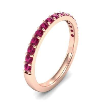 Thin Surface Prong Set Ruby Ring (0.69 Carat)