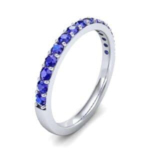 Thin Surface Prong Set Blue Sapphire Ring (0.69 Carat)