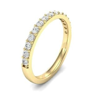 Thin Surface Prong Set Diamond Ring (0.38 Carat)