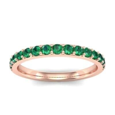 Thin Surface Prong Set Emerald Ring (0.69 Carat)