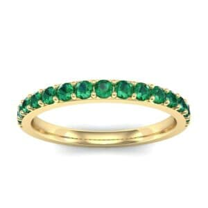 Thin Surface Prong Set Emerald Ring (0.69 Carat)
