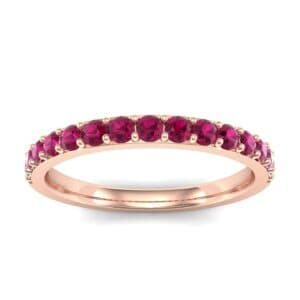 Thin Surface Prong Set Ruby Ring (0.69 Carat)