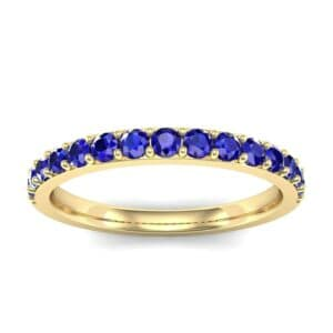 Thin Surface Prong Set Blue Sapphire Ring (0.69 Carat)