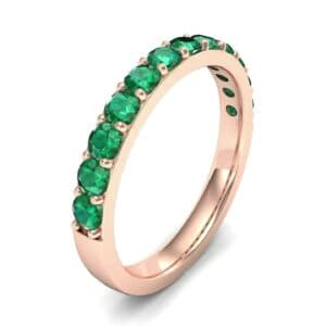 Surface Prong Set Emerald Ring (0.82 Carat)