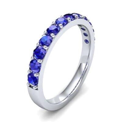 Surface Prong Set Blue Sapphire Ring (0.82 Carat)