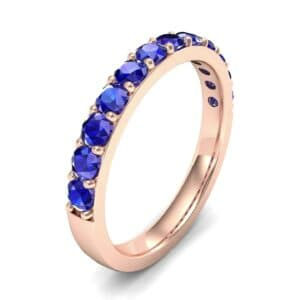 Surface Prong Set Blue Sapphire Ring (0.82 Carat)