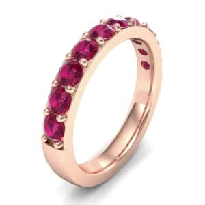 Wide Surface Prong Set Ruby Ring (1.19 Carat)