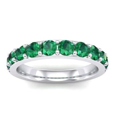 Wide Surface Prong Set Emerald Ring (1.19 Carat)